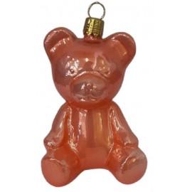 Kerstbal Teddy Beer Oranje-bruin