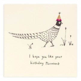Dubbele kaart Birthday Pheasant