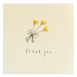 Dubbele kaart Thank You Flowers