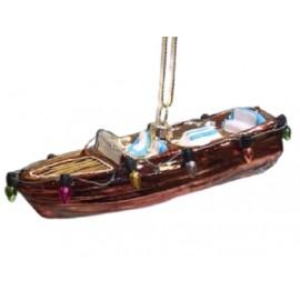 Kerstbal Motorboot