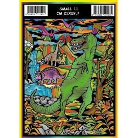 Vilten Kleurplaat T-Rex