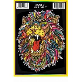 Vilten Kleurplaat Leeuw met Viltstiften