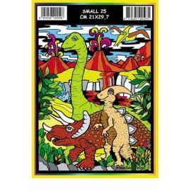 Vilten Kleurplaat Dinosauriers met Viltstiften