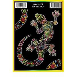 Vilten Kleurplaat  Salamander met Viltstiften