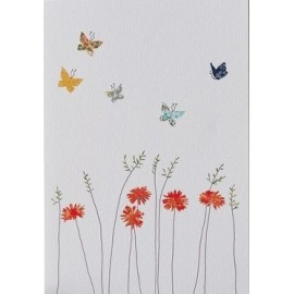 Dubbele kaart Daisies and Butterflies