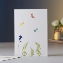 Dubbele kaart Dagonflies & Fern