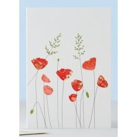 Dubbele kaart Poppies & Grass
