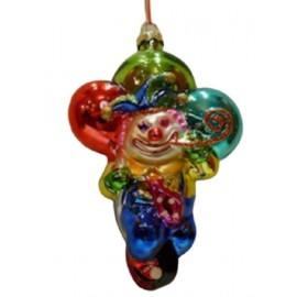 Kerstbal Clown met Ballonnen