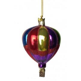 Kerstbal Luchtballon Geel-multicolour