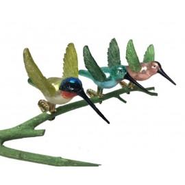 Set van 3 Glazen Kolibries op Clip