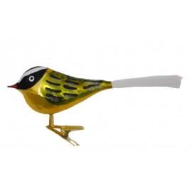 Vogeltje op Clip Goud-groen