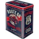 Retro Blik Route 66 Motor Oil