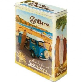Retro Blik VW Bus Ready for Summer