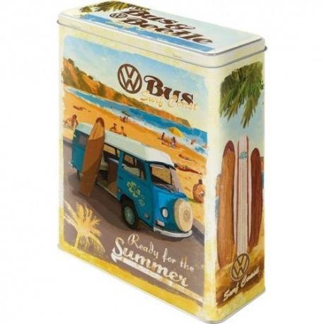Retro Blik VW Bus Ready for Summer