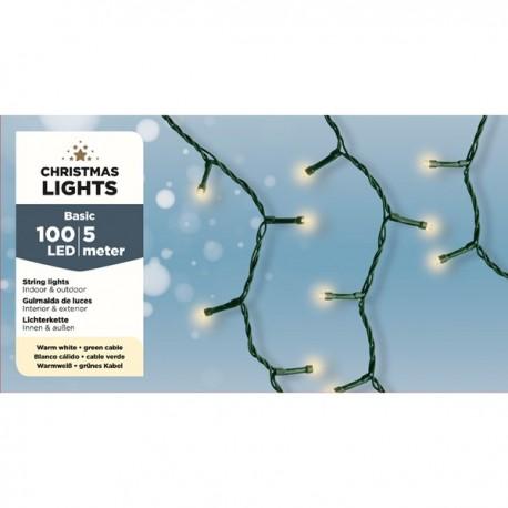 100 Kerstboomlampjes Led Warm wit