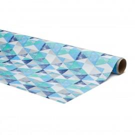 Inpakpapier Blauwe Driehoek