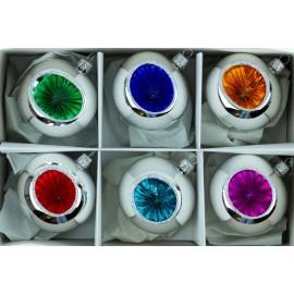 Rertro Kerstballen Set van 6 Zilver-kleur
