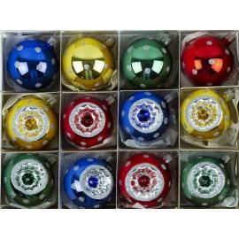 Set van 12 Retro Reflector Ballen Ornex 04