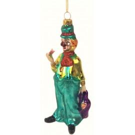 Kerstbal Clown met Jas