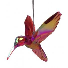 Kerstbal Kolibrie Rood