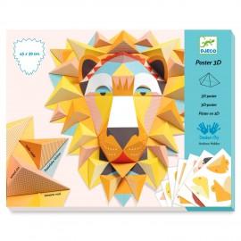 Djeco Knutseldoos 3 D poster maken Leeuw
