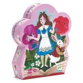 Djeco Silhouet Puzzel Alice in Wonderland