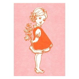 Ansichtkaart Girl