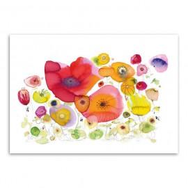 Moniek Peek Red flower garden