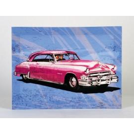 Oldtimer op canvas 30 x 40cm