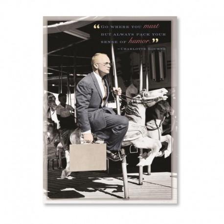 Fotokaart Man on Carousel
