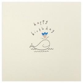Dubbele kaart Birthday Whale