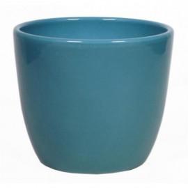 Bloempot Boule Oceaanblauw H.9,8cm