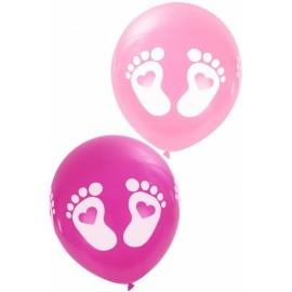 Ballonnen voetjes roze