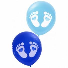 Ballonnen voetjes blauw