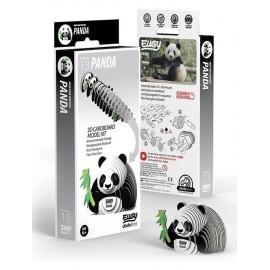 Kartonnen 3D Puzzel Panda Beer