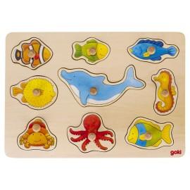 Houten Puzzel Zeedieren - Goki