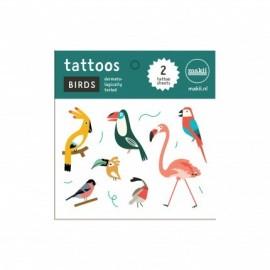 Makii Tattoos Vogels