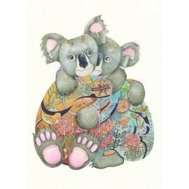DM Wenskaart Knuffelende Koala's