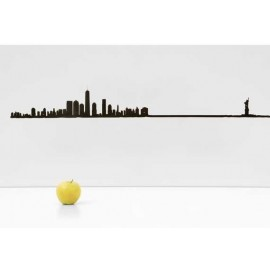 The Line Skyline New York Zwart XL 125 cm