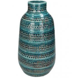 Vaas Stoneware Petrol H.30cm