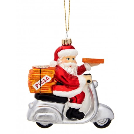 Kerstbal  Kerstman Pizzabezorger