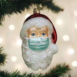 Kerstbal Kerstman met Mondkapje