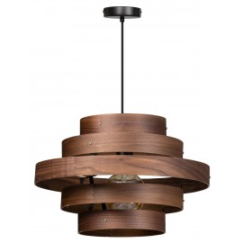 Walnut Hanglamp 5 rings