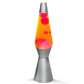 Lavalamp Rocket Zilver-Geel- Roze