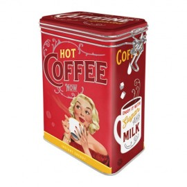 Retro Blik Hot Coffee Now