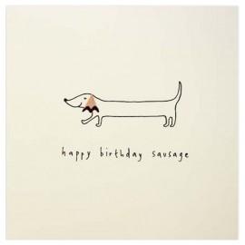 Dubbele kaart Birthday Sausage Dog