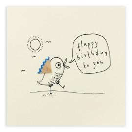 Dubbele kaart Birthday Flappy