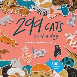 Puzzel 299 Katten (en 1 hond)