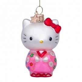 Kerstbal Hello Kitty in Kimono