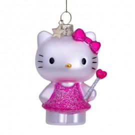 Kerstbal Hello Kitty met Toverstaf